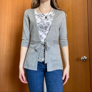Smart Set Lightweight Quarter Sleeved Cardigan